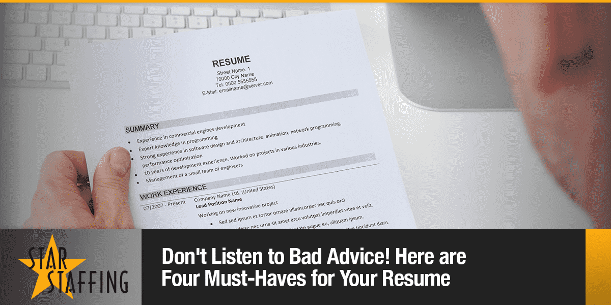 4 Must Haves For Your Resume Mendocino County Jobs